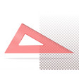 red plastic transparent triangle vector image