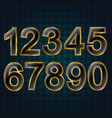 set golden numbers vector image