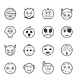 Set of halloween icons eps10 format vector image