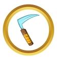 Kusarigama ninja weapon icon cartoon style vector image