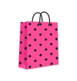 Blank Paper Shopping Bag With Rope Handles Pink vector image vector image