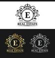 real estate monogram logo templates luxury vector image