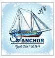 Sail Ship Poster vector image