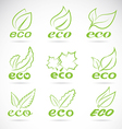Leaves eco vector image vector image