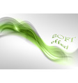 wave neon light white curve green soft vector image vector image