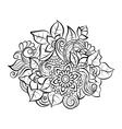Decorative art flowers vector image