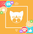 cat - logo symbol protect sign icon vector image