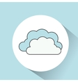 clouds in circle icon vector image