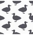 Farm bird silhouette seamless pattern Duck meat vector image