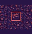 halloween doodle seamless pattern vector image