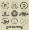 Laundry business vintage label vector image