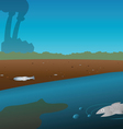Pollution river vector image