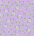 seamless floral pattern in hand draw vector image