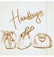 sketch handbags vector image vector image