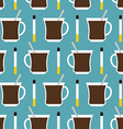 Coffee cup and cigarettes seamless pattern Best of vector image
