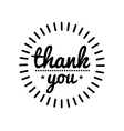 Thank you vintage label vector image vector image