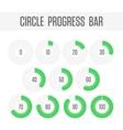 Green circle progress bar vector image