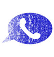 phone message grunge textured icon vector image
