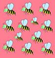 pattern bee vector image