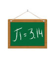 pi on green chalkboard vector image vector image