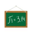 pi on green chalkboard vector image