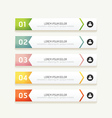 progress banners with colorful tags vector image vector image