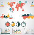 Infographics set World Map and Information vector image