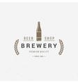 Beer bottle logo or badge design element vector image vector image