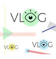 Modern vlog or video blog vector image