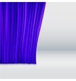 Background with curtain vector image