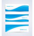 Blue White Banner vector image