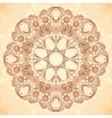 Decorative mandala in Indian mehndi style vector image