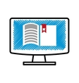 electronic book download isolated icon vector image