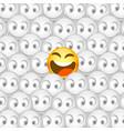 one smiley among many smiles vector image