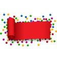 Red curled ribbon vector image