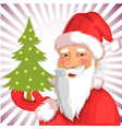 Santa Claus with Christmas tree eps10 vector image