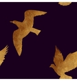 Seamless pattern with golden birds vector image