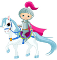 Knight on horse vector image vector image