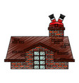 merry christmas cute house vector image