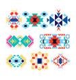tribal geometric logo set american indian-ornate vector image