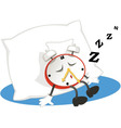 Sleeping alarm clock vector image
