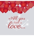 Love card design with red details vector image