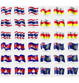 Thailand North Ossetia Cambodia Pitcairn Islands vector image