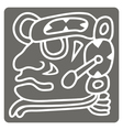 monochrome icon with glyphs of the Maya periods vector image