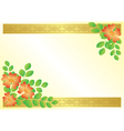 floral card with ribbons vector image vector image