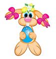 easter bunny girl vector image