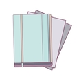 office diary with multiple sheets vector image