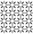Seamless Black White Monochrome Vintage Pattern vector image