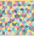 Seamless memphis vector image