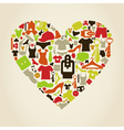 Heart clothes2 vector image